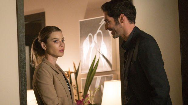 Das ungewohnte Gefühl, das Lucifer (Tom Ellis, r.) überkommt, wenn er Chloe (...
