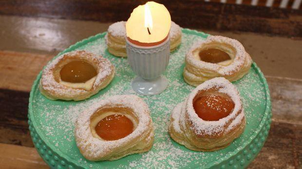 Blätterteig-Ostereier mit Orangencreme