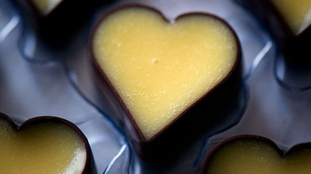 Eierlikör-Pralinen in Herzform