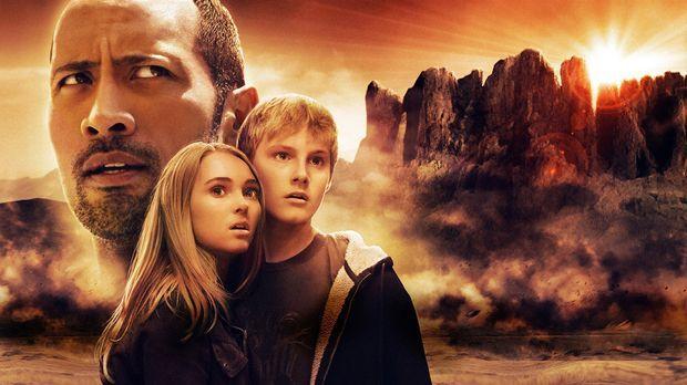 Die Jagd zum magischen Berg - Artwork mit (v.l.n.r.) Dwayne Johnson, AnnaSoph...