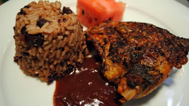 Jerk Chicken mit BBQ-Sauce