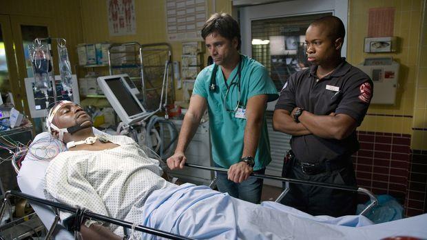 Die Explosion des Krankenwagens überlebt Dr. Gregory Pratt (Mekhi Phifer, l.)...