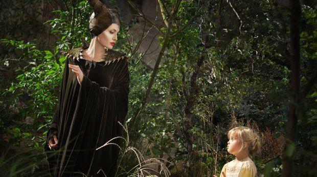 """""""Maleficent"""" mit Angelina Jolie: Böse Fee bringt kleine Mädchen zum..."""