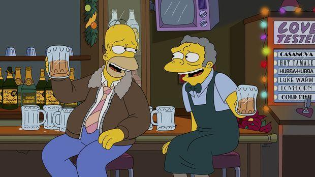 Während Marge und die Kinder am Heiligabend auf das Familienoberhaupt warten,...