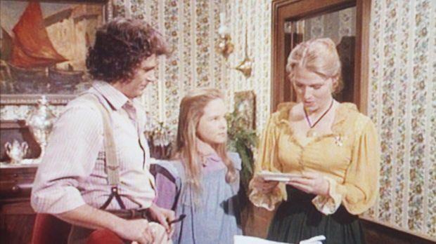 Charles (Michael Landon, l.) und seine Tochter Mary (Melissa Sue Anderson, M....