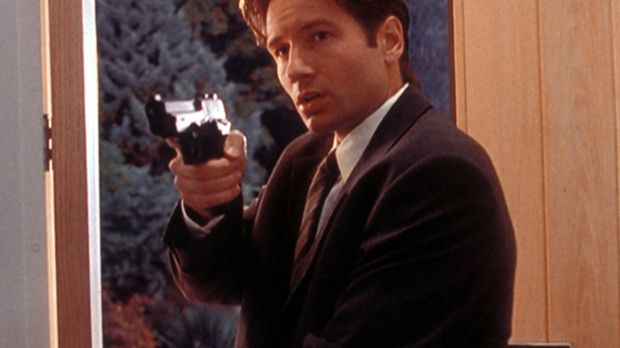 Mulder (David Duchovny) hält den Arzt einer Schönheitsklinik davon ab, seinen...