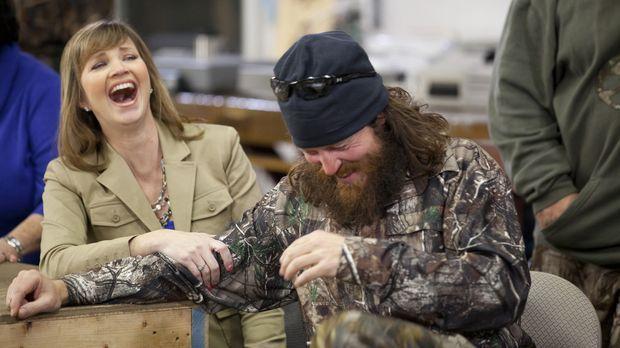 Im Kochwettkampf Robertson-Frauen gegen Robertson-Männer geben auch Missy (Mi...