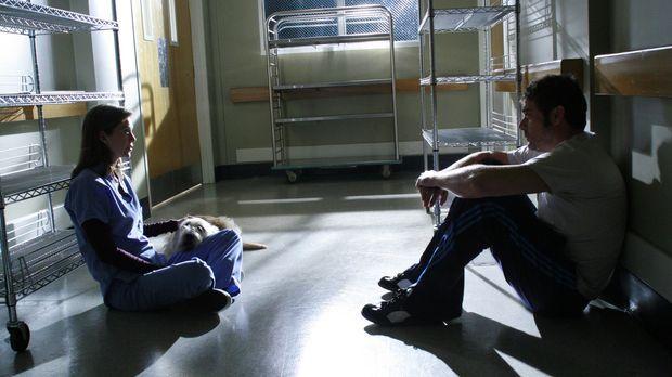 Im Jenseits trifft Meredith (Ellen Pompeo, l.) auf Denny (Jeffrey Dean Morgan...