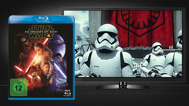 Star Wars - Das Erwachen der Macht - Szene & Blu-ray Cover
