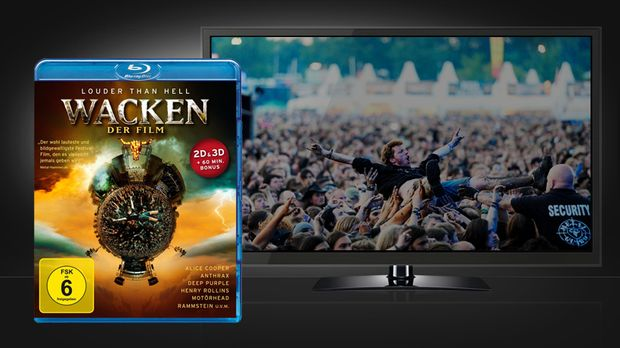 Wacken 3D - Szene und Cover © Warner Home Video