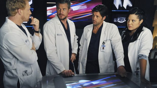 Ein Kamerateam besucht das Seattle Grace Mercy West Hospital sechs Monate nac...