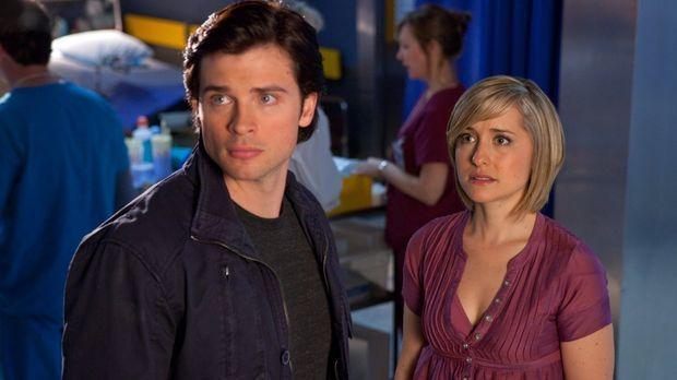 Während Chloe (Allison Mack, r.) im Wachturm eingesperrt und Clark (Tom Welli...