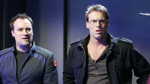 Nachdem Dr. Daniel Jackson (Michael Shanks, l.) in Atlantis angekommen ist, m...