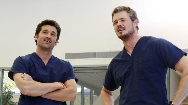 Sind zu einem wahren Männerabend bei Webber eingeladen: Derek (Patrick Dempse...