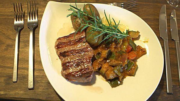 Hauptspeise Fleischvariation mit Gemuese