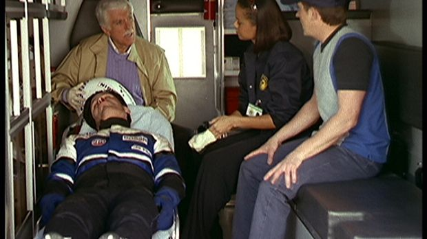 Mark (Dick Van Dyke, hinten l.), Steve (Barry Van Dyke, r.) und Amanda (Victo...