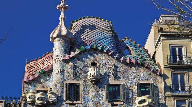 Spanien Barcelona Jugendstil Haus