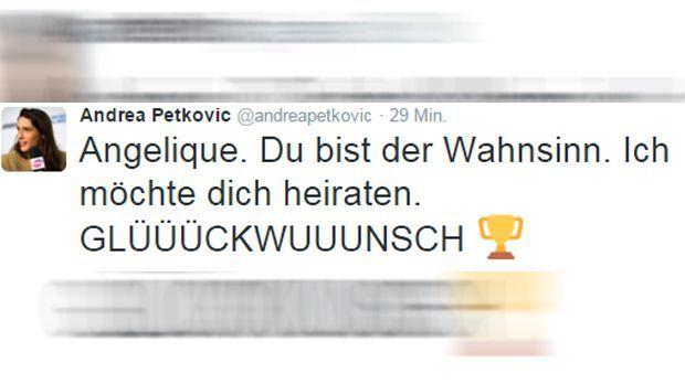 Andrea Petkovic Tweet - Bildquelle: twitter / @andreapetkovic