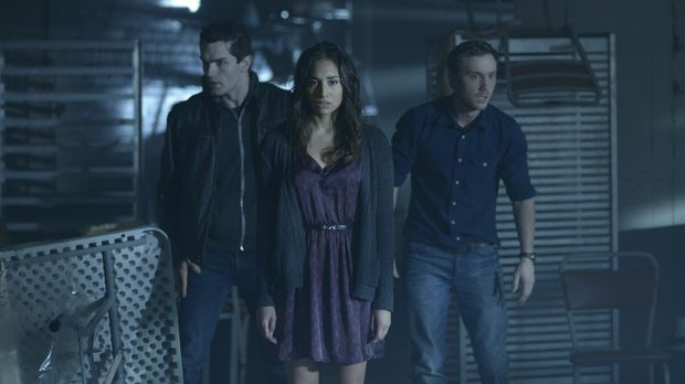 Nehmen den Kampf gegen Donna auf: Josh (Sam Huntington, r.), Aidan (Sam Witwe...