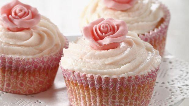 Durch die Blume gesagt: Rosen-Cupcakes sind lecker!