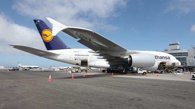 So lang wie ein Fussballfeld: Am 25. Oktober 2007 übertraf Lufthansa mit den...