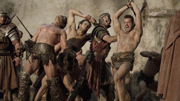 Treten zum Rachefeldzug gegen Batiatus an: Spartacus und seine Gladiatoren Cr...