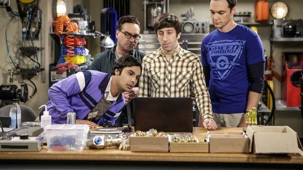 Dr. Raj (Kunal Nayyar,l.), Dr. Leonard (Johnny Galecki, 2.v.l.), Dr. Sheldon...
