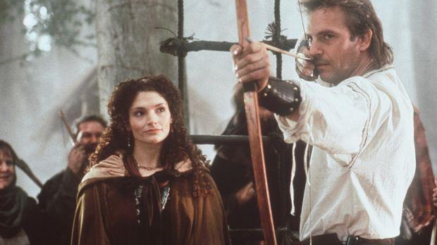 Die Treffsicherheit Robin Hoods (Kevin Costner, r.) ist im ganzen Land berühm...