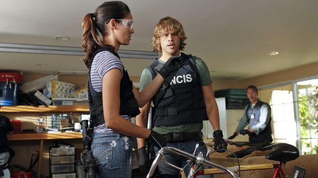 Bei den Ermittlungen: Kensi (Daniela Ruah, l.) und Deeks (Eric Christian Olse...