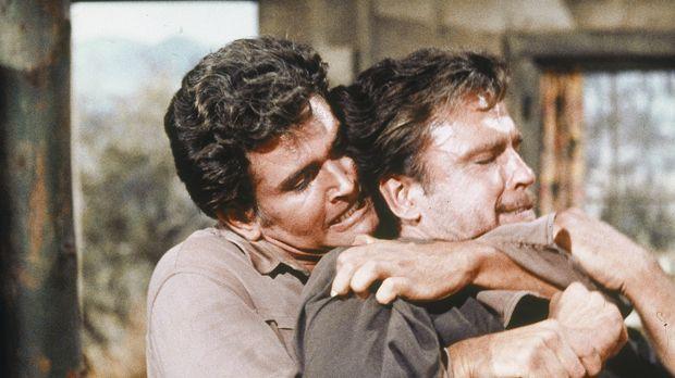 Eigentlich will Little Joe (Michael Landon, l.) nur eine alte Freundin besuch...