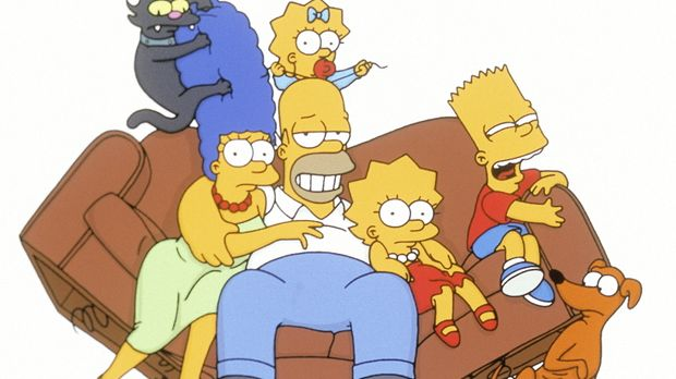(12. Staffel) - Die chaotische Familie Simpson (v.l.n.r.): Marge, Homer, Lisa...