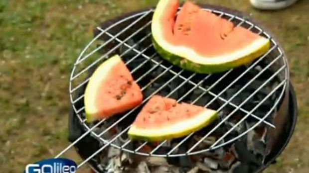 Wassermelone auf Grill