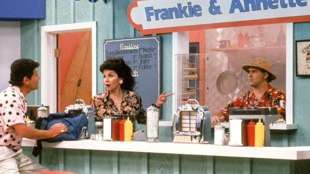 Wie wird sich Joey (Dave Coulier, r.) beim Dreh mit den berühmten Schauspiele...