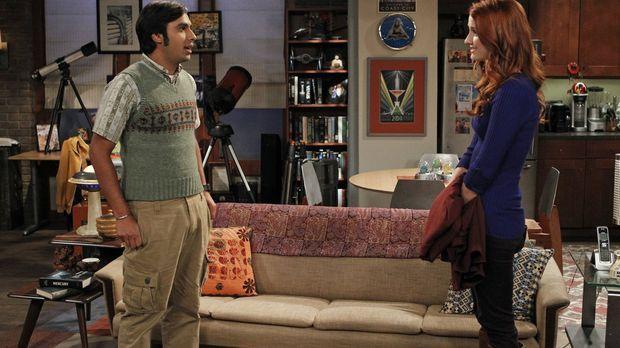 Haben Raj (Kunal Nayyar, l.) und Emily (Laura Spencer, r.) eine gemeinsame Zu...