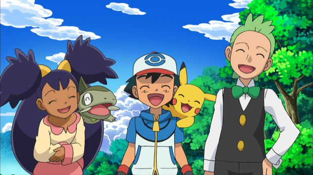 (16. Staffel) - Gemeinsam begeben sich Lilia (l.), Milza (2.v.l.), Ash (M.),...