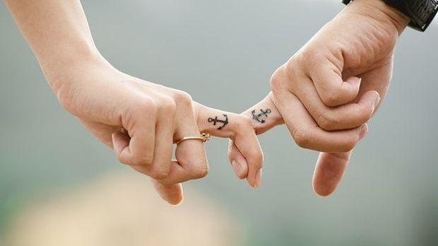 Liebespaar-Finger