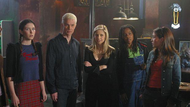 Buffy (Sarah Michelle Gellar, M.) holt sich die Unterstützung von Spike (Jame...