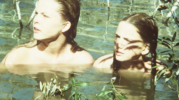 Mary (Melissa Sue Anderson, l.) und Laura (Melissa Gilbert, r.) sind mit Elle...