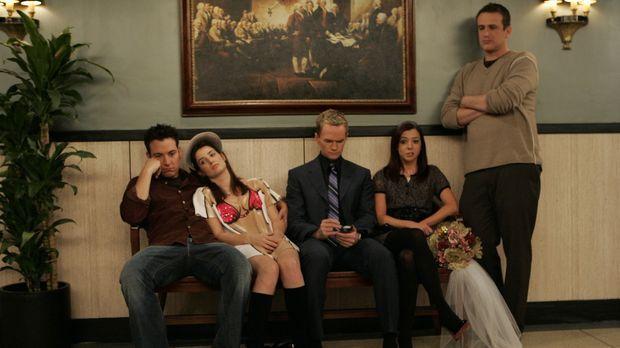 Verrückt: Marshall (Jason Segel, r.) und Lily (Alyson Hannigan, 2.v.r.) sind...