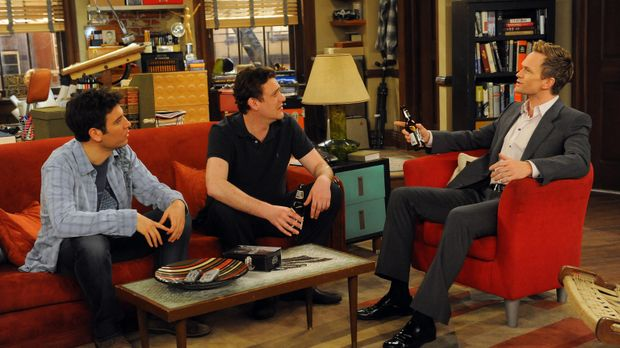 Für Ted (Josh Radnor, l.), Marshall (Jason Segel, M.) und Barney (Neil Patric...