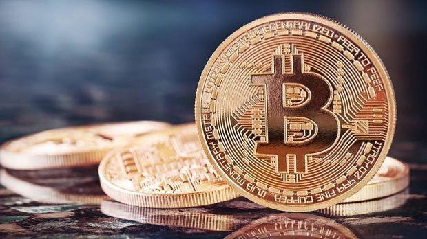 Glänzende Bitcoin-Münzen