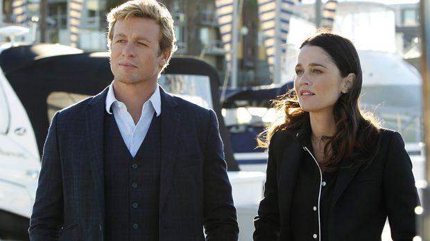 Ein neuer Fall beschäftigt Patrick (Simon Baker, l.) und Teresa (Robin Tunney...