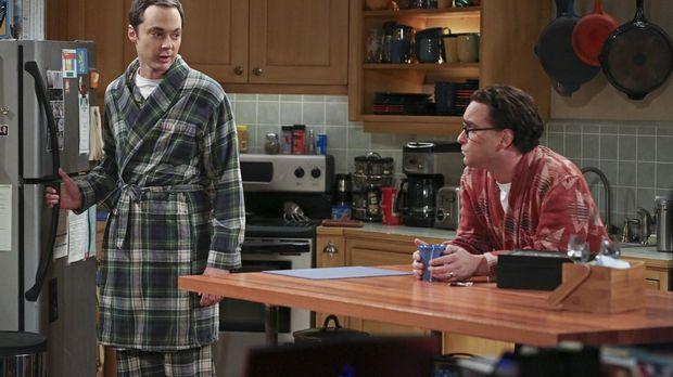 Leonard (Johnny Galecki, r.) und Sheldon (Jim Parsons, l.) haben beide mit de...