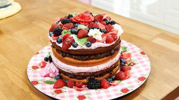 """Naked Cake – Matthias' """"Rosen-Waldfrucht-Torte"""""""