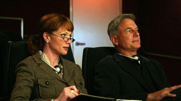 Shepard (Lauren Holly, l.) und Gibbs (Mark Harmon, r.) beobachten Tony bei ei...