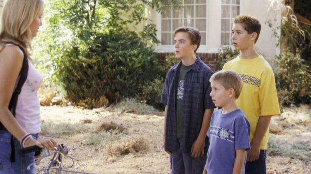 (v.r.n.l.) Reese (Justin Berfield), Dewey (Erik Per Sullivan) und Malcolm (Fr...