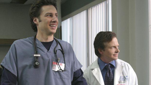 Dr. Kevin Casey (Michael J. Fox, r.) kommt als Gastprofessor ans Sacred Heart...