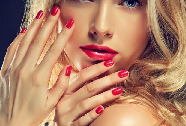 Schöne Nägel mit Nagellack