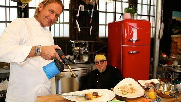 Kochen mit Knall: Stefan Marquard und Frank Buchholz