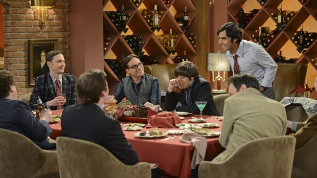 Ein ganz besonderer Junggesellenabschied: Sheldon (Jim Parsons, 2.v.l.), Leon...